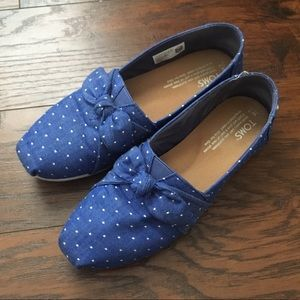 Chambray Dot Bow Toms